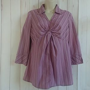 Oh Baby!!! Purple Maternity Blouse